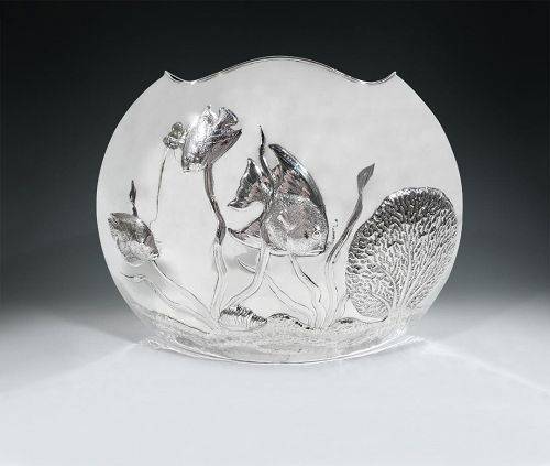 Wonderful & Witty Cartier Modern Sterling Silver Fishbowl Vase