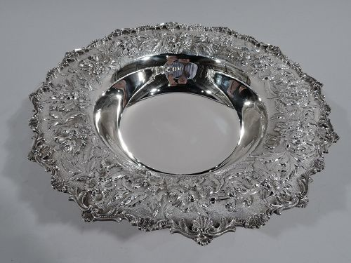 Kirk Sterling Silver Bowl with Pretty Traditional Floral Repousse