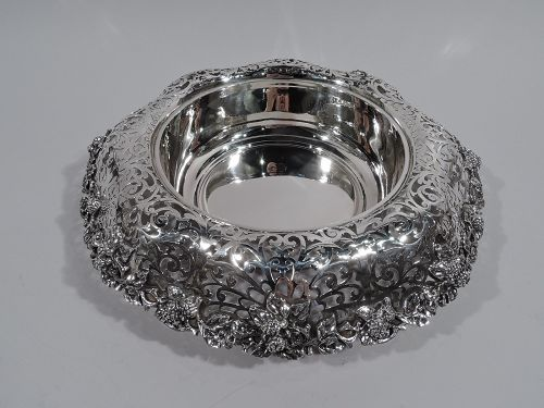 Antique Dominick & Haff Small Sterling Silver Centerpiece Berry Bowl