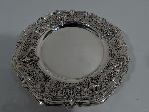 Set of 8 Shreve Adam Sterling Silver Bread & Butter Plates