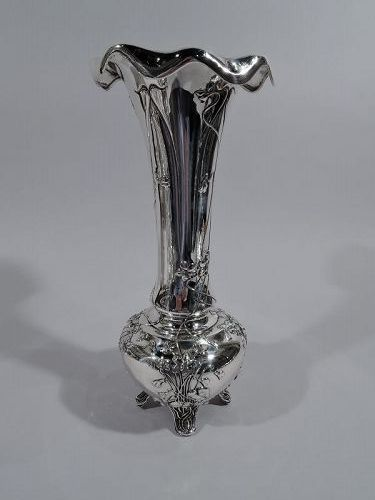 Beautiful Tiffany Art Nouveau Sterling Silver Vase
