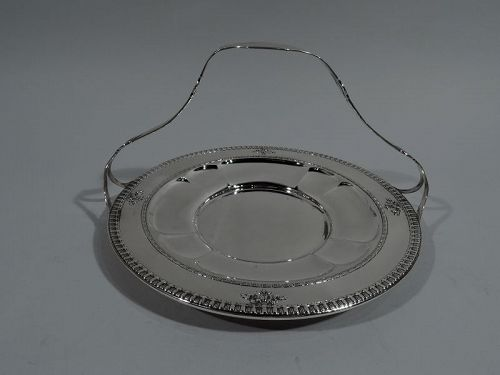 Antique Dominick & Haff Sterling Silver Cake Plate in Windsor Pattern
