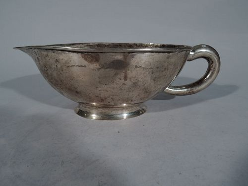 Large Antique South American Silver Gravy Boat