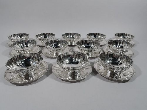 24-Piece Tiffany Sterling Silver Dessert Set with Bowls and Plates