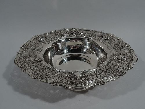 Antique Shreve Sterling Silver Centerpiece Bowl in Adam Pattern