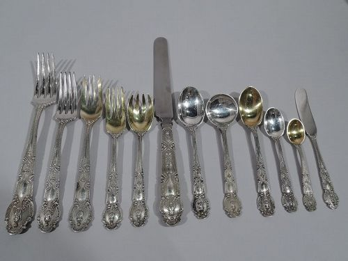 Antique Tiffany Renaissance Sterling Silver Set for 12 with 170 Pieces
