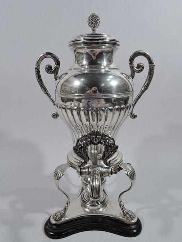 Antique Austrian Biedermeier Classical Silver Tea Urn 1832