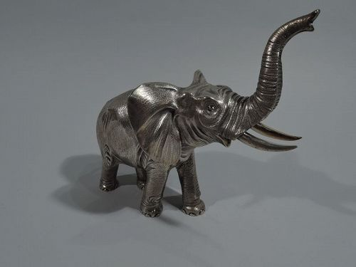 A Mighty Beast � Elephant Silver Figure by French Maker Bry & Cie