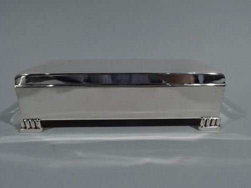 Classic American Midcentury Modern Sterling Silver Box by Poole