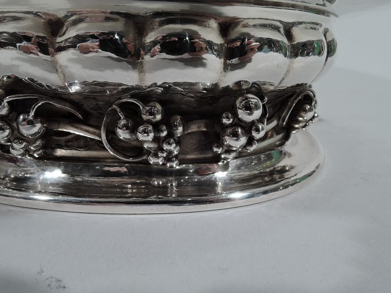 George Jensen Sterling Silver Classic Grape Centerpiece Bowl