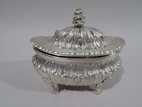 Midcentury Modern Classical Sterling Silver Covered Bowl