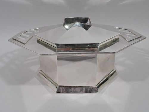 Tiffany Sterling Silver Covered Tureen by Frank Lloyd Wright