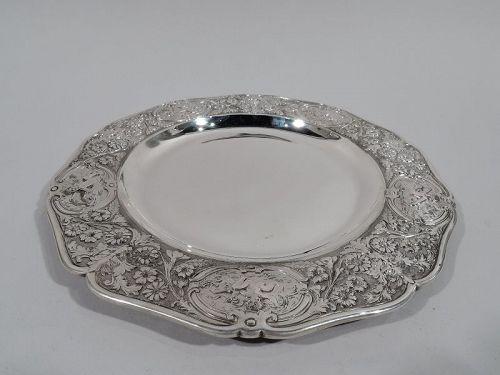 James Garrard Sterling Silver Chubby Cherubs Serving Plate 1887