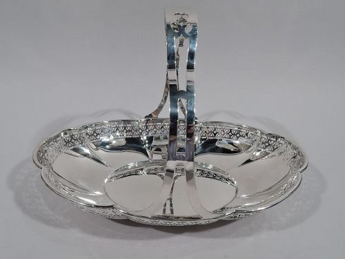 Antique Whiting Art Deco Sterling Silver Basket 1919