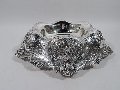 American Gilded Age Sterling Silver Centerpiece Bowl by Redlich