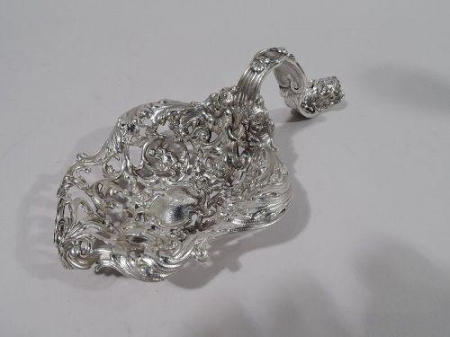 Gorham Art Nouveau Rococo Sterling Silver Bonbon Scoop