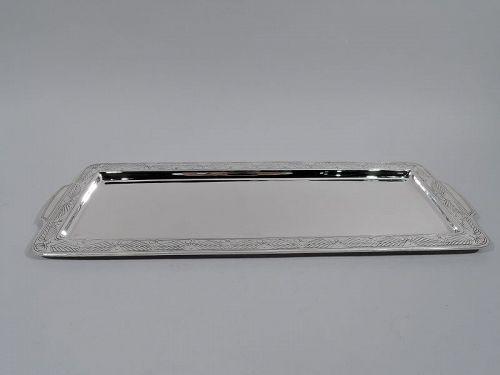 Stylish Art Deco Sterling Silver Bar Tray by Tiffany