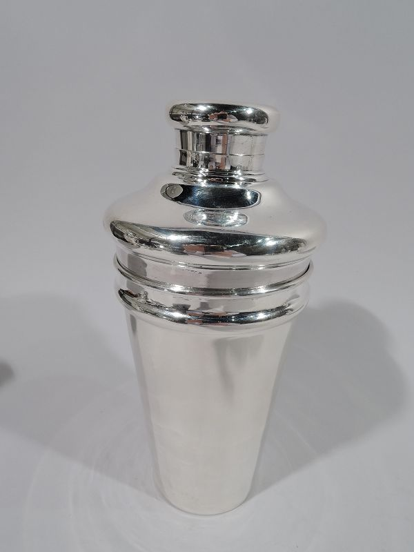 Antique Tiffany Sterling Silver Cocktail Shaker C 1910