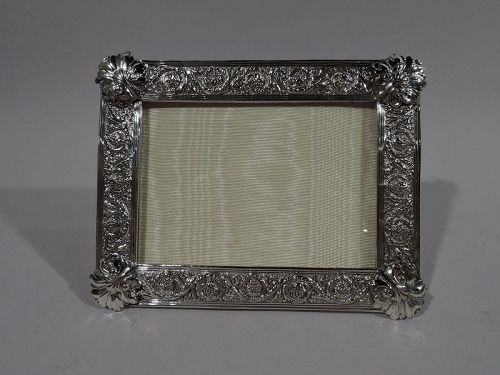 Antique Tiffany Exuberantly Classical Silver-Soldered Picture Frame