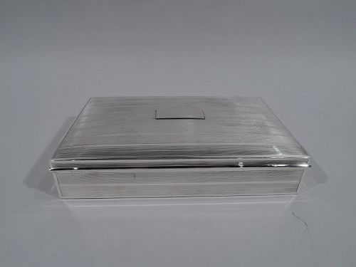 Large American Art Deco Sterling Silver Desk Box by Andrew Taylor