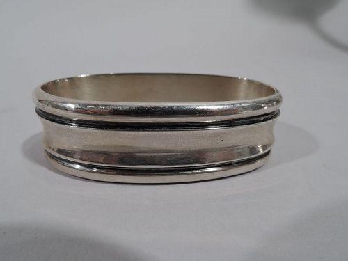 Asprey Midcentury Modern Sterling Silver Napkin Ring