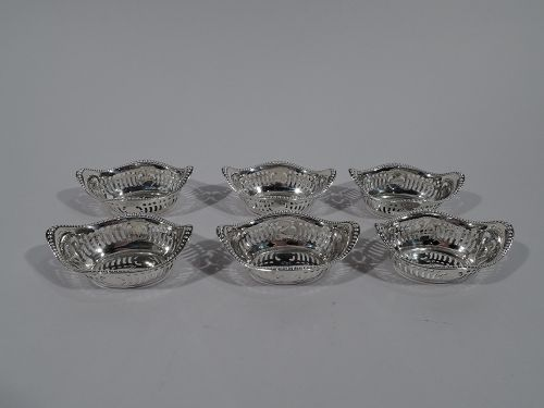 Set of 6 Antique Gorham Edwardian Sterling Silver Nut Dishes