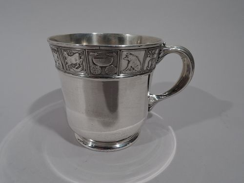 Antique Gorham Edwardian Sterling Silver Nursery Rhyme Baby Cup