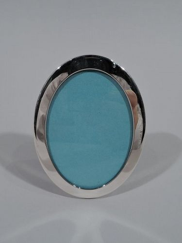 Tiffany Modern Small Oval Sterling Silver Picture Frame