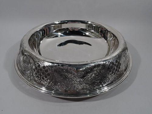 Very Large Antique Gorham Edwardian Sterling Silver Centerpiece Bowl