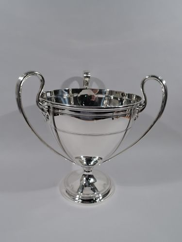 Large & Heavy Art Deco Classical Sterling Silver Trophy Cup by Tiffany