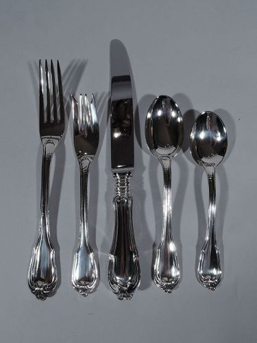 Buccellati Borgia Sterling Silver Dinner Set for 12 with 68 Pieces