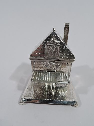 Turn-of-the-Century Dutch Silver Tzedakah Charity Box