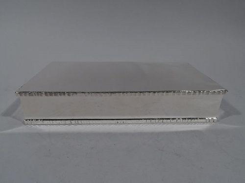 American Modern Hand Made Sterling Silver Box