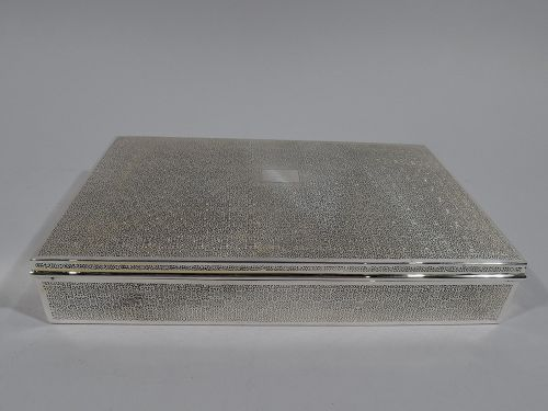 Large Antique American Sterling Silver Box by Tiffany
