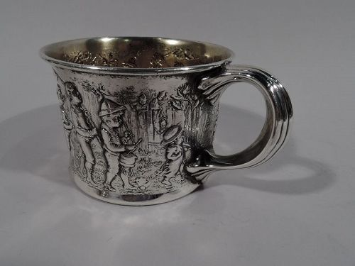 Antique Gorham Edwardian Sterling Silver Boy�s Expedition Baby Cup