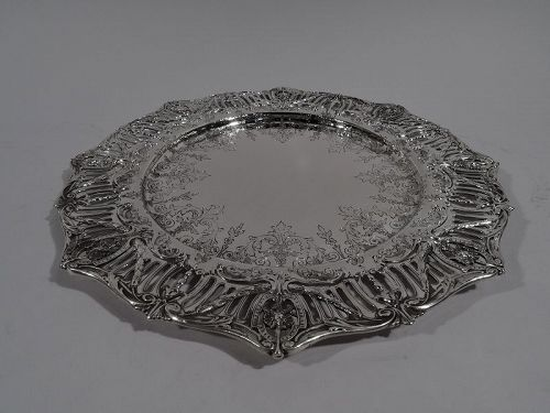 Antique JE Caldwell American Edwardian Regency Sterling Silver Tray