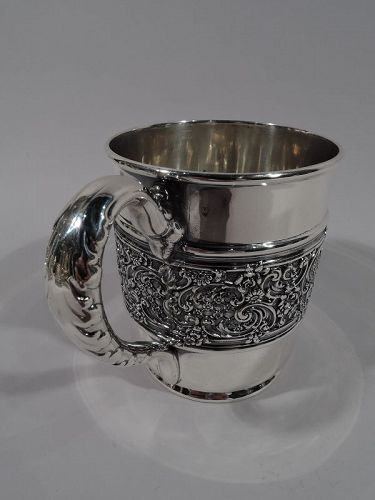 Antique Tiffany American Edwardian Sterling Silver Baby Cup