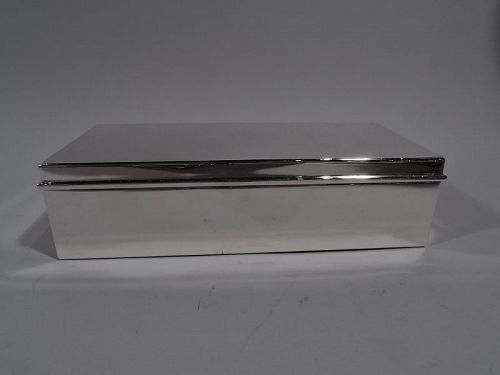Stylish and Modern Sterling Silver Desk Box by Tiffany & Co.