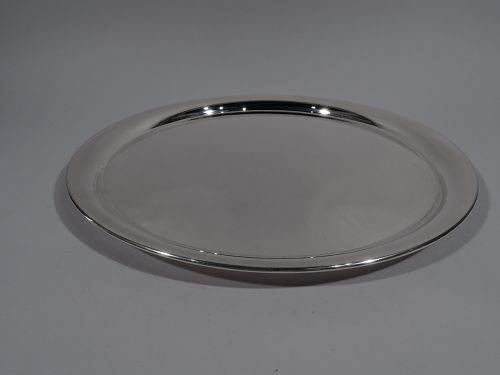 American Modern Sterling Silver Round Serving Tray