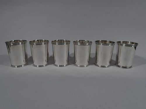 Set of 6 American Sterling Silver Mint Julep Cups by Alvin