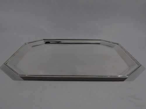 Tiffany Large and Modern Sterling Silver Serving Tray
