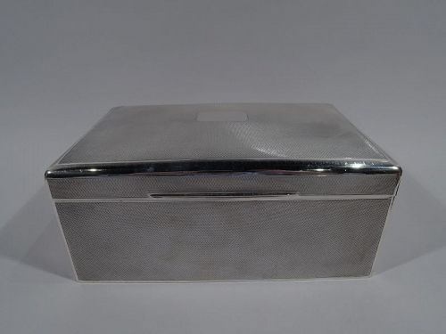Large English Art Deco Sterling Silver Box