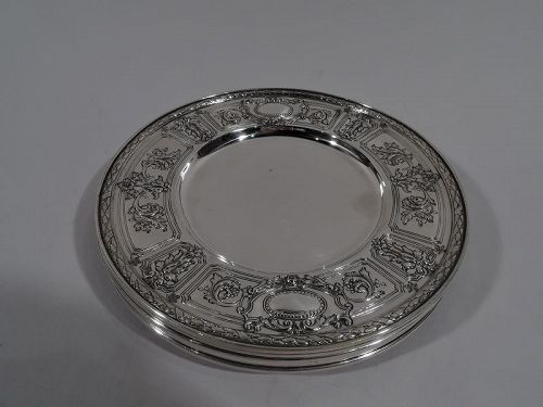 Set of 6 Gorham Maintenon Sterling Silver Bread & Butter Plates