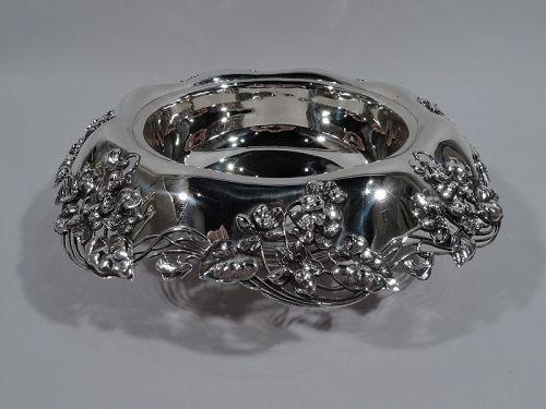 Antique Tiffany Art Nouveau Sterling Silver Centerpiece Bowl