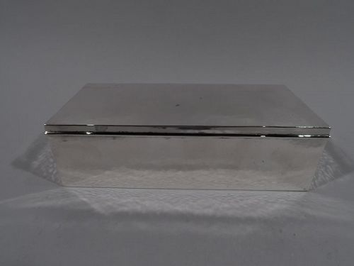 "Boxed 3 1//2/"" Solid Silver NEW Straight Sided COASTER"