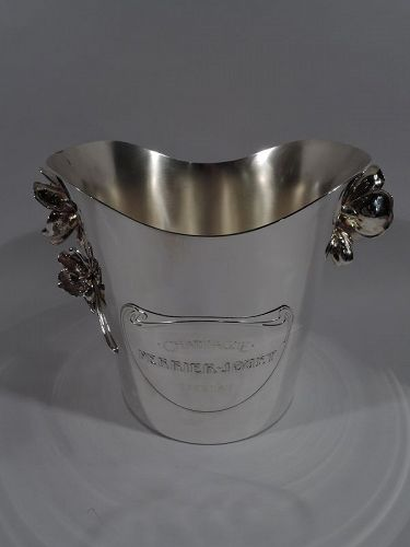 Christofle French Art Nouveau Silver Plate Champagne Bucket