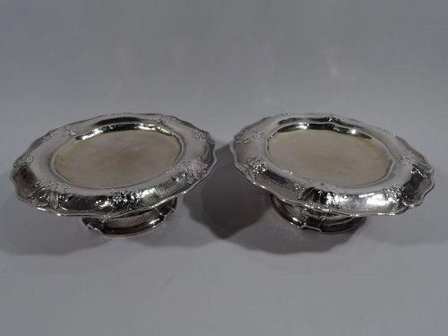 Pair of Antique Gorham Martele Silver Compotes Signed Codman 1909