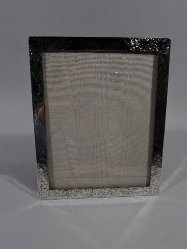 Lovely Antique American Art Nouveau Sterling Silver Picture Frame