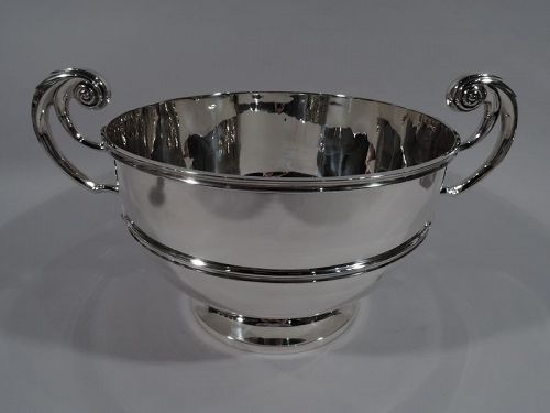 Antique English Classical Sterling Silver Centerpiece Trophy Bowl 1902