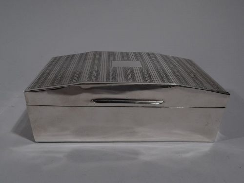 Smart English Art Deco Sterling Silver Box 1931